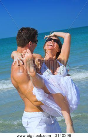 Happy Beach Couple
