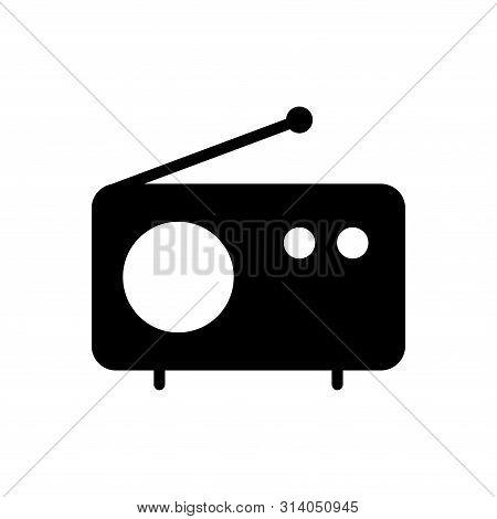 Radio Icon Vector Template On White Background