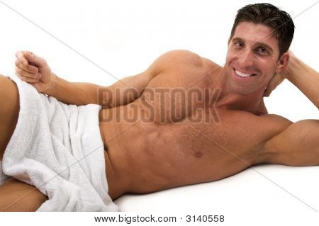 Naked Man With Towel