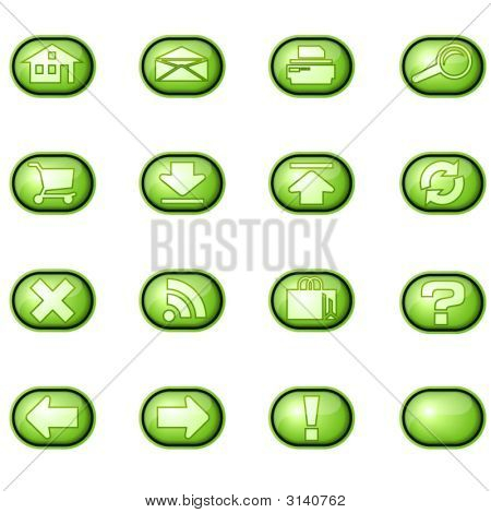 Web Icons A, Green