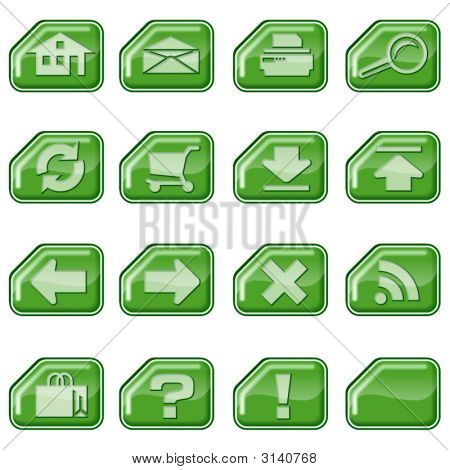 Web Icons B, Green