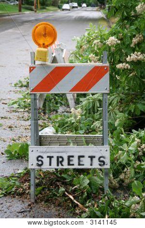 Streets Closed Sandwich Board