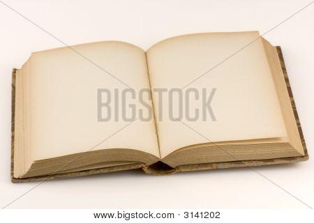 Close Up Shot Of An Open Antique Book