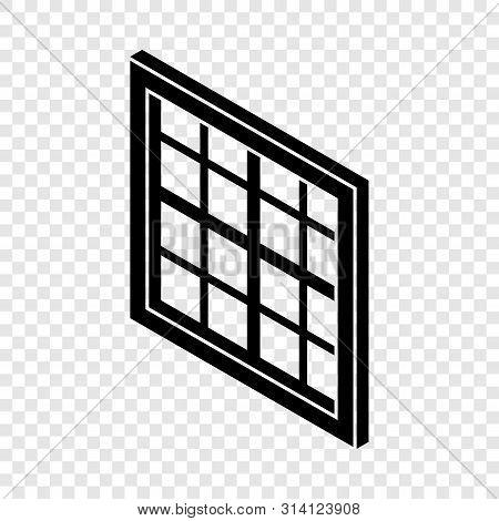 Lattice Window Frame Icon. Simple Illustration Of Lattice Window Frame Vector Icon For Web