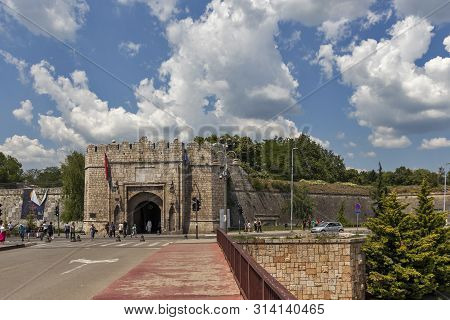 Nis, Serbia - June 15, 2019:  Outside View Of Stambol (istanbul) Gate At Fortress And  In City Of Ni