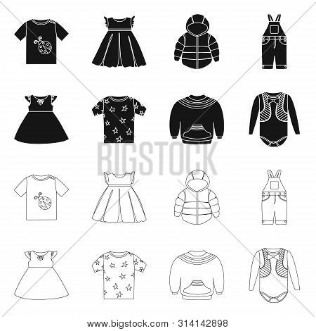 Vector Design Of Fashion And Garment Icon. Set Of Fashion And Cotton Stock Vector Illustration.