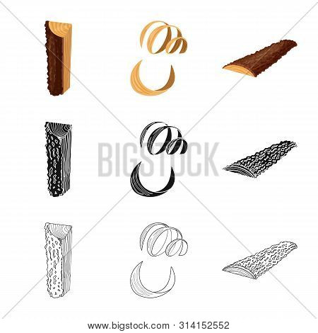Vector Illustration Of Tree And Raw Logo. Collection Of Tree And Construction Stock Symbol For Web.