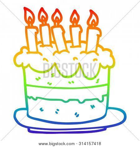 Amazing Rainbow Gradient Line Image Photo Free Trial Bigstock Personalised Birthday Cards Vishlily Jamesorg