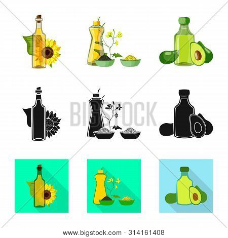 Isolated Object Of Healthy And Vegetable Sign. Collection Of Healthy And Agriculture Stock Vector Il