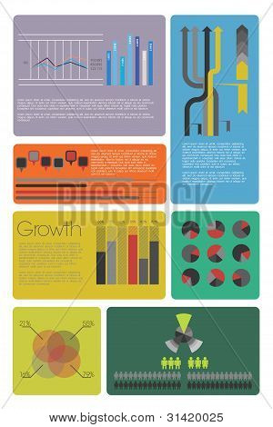Colorful info graphic elements