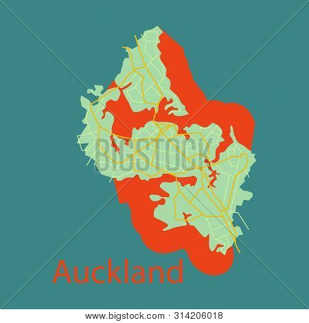 Map - Auckland New Vector & Photo (Free Trial) | Bigstock