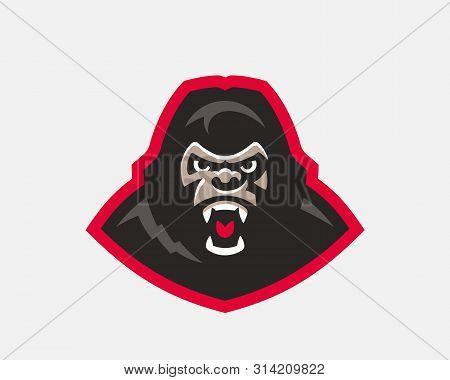 Gorilla head modern logo. Monkey template design emblem for a sport and eSport team. poster