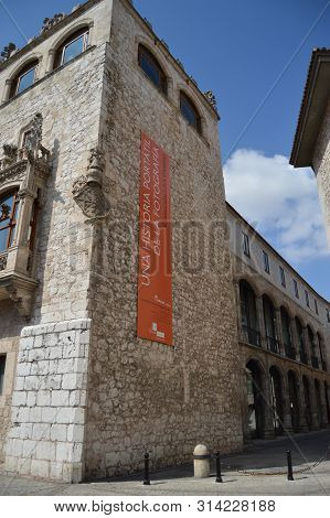 Battlement Of Cord House Palace Of The Constables Of Castilla Dated In The 15th Century In The Liber