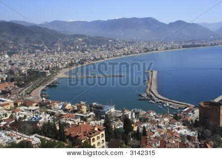 High View Of Alanya Bay