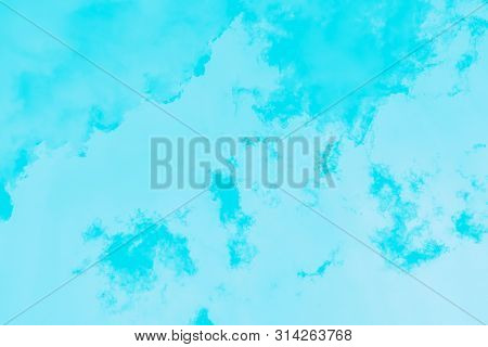 Blue Turquoise Gradient Color. Marble Texture, Patchy Background