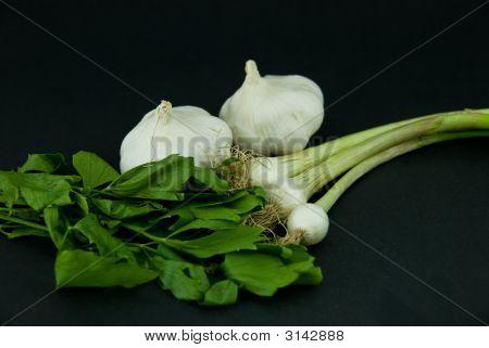 Onion, Garlic, Loveage.