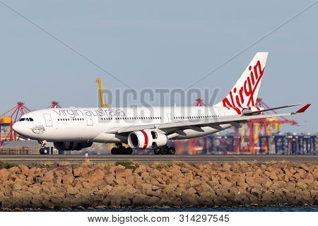 Sydney, Australia - October 10, 2013: Virgin Australia Airlines Airbus A330 Large Commercial Airline