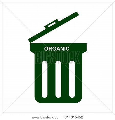 Save Download Preview Trash Organic Icon Isolated On White Background From Photography Collection. T