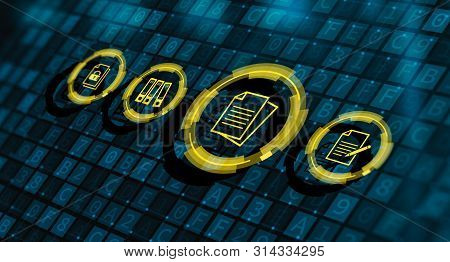 Document Management Data System Business Internet Concept