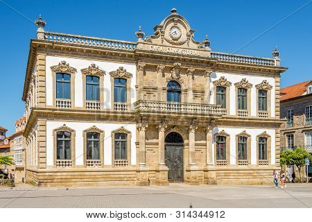 Pontevedra,spain - May 14,2019 - View At The Administration Buiding Of Pontevedra. Pontevedra Is A S