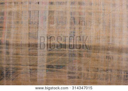 Papyrus Texture. Papyrus Closeup. Egyptian Papyrus. Pure Papyrus