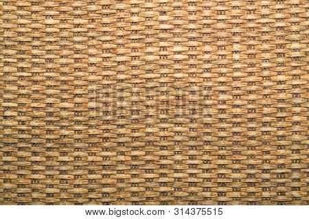 Woven Texture. Seamless Texture Of Basket Surface. Wooden Vine Wicker Straw Basket. Handcraft Weave