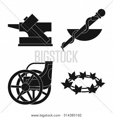 Isolated Object Of Religion And Myths Icon. Collection Of Religion And Greek Stock Symbol For Web.
