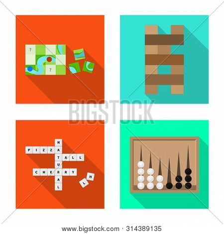 Vector design of entertainment and competition logo. Collection of entertainment and rivalry stock vector illustration. poster