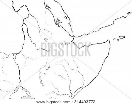 World Map Of Nubia, Ethiopia, Somalia: Nubia (kush), Ethiopia (aksum, Abyssinia), Sudania (sudan), S
