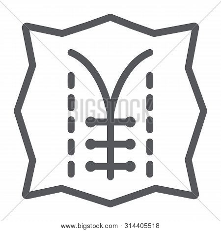 Seam Line Icon, Dressmaking And Sew, Textile Sign, Vector Graphics, A Linear Pattern On A White Back