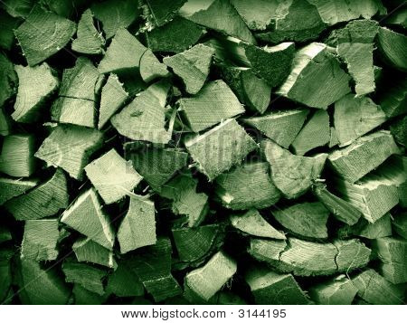 A close up on a pile of slip fire wood background texture. poster