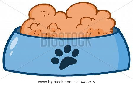 Dog Bowl With Food