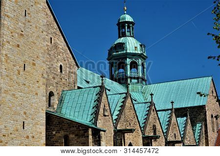 Part Of The Roof Of St Marys Cathedral In Hildesheim, Germany