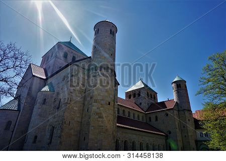Sun Rays Over St. Michael's Church In Hildesheim
