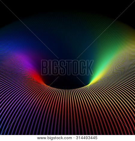 3d Abstract Background: Model Of Blue Thermonuclear Fusion. High Energy Elementary Particles Flow Th