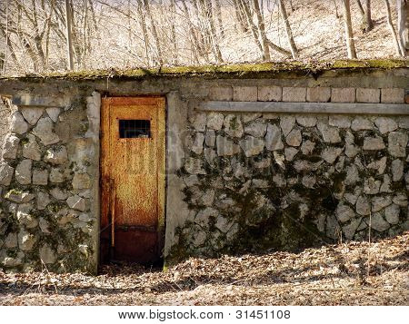 Entrance to weird chalet