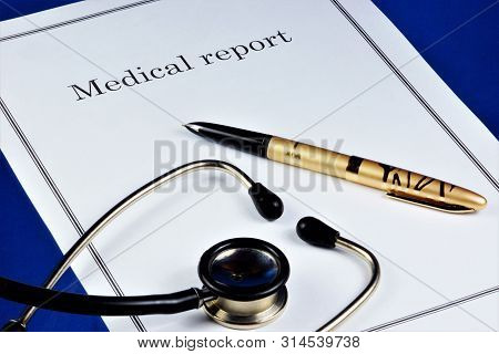 Medical Report On The State Of Health Of The Examined Patient. Diagnosis-- The Essence Of The Diseas