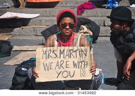 trayvon  martin supporter