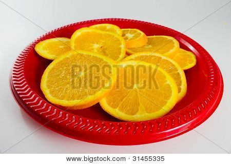 Plate of Oranges