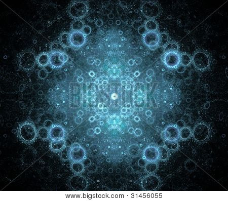Abstract Blue Background with Rings