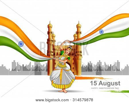 Indian Tricolor Background For 15th August Happy Independence Day Of India