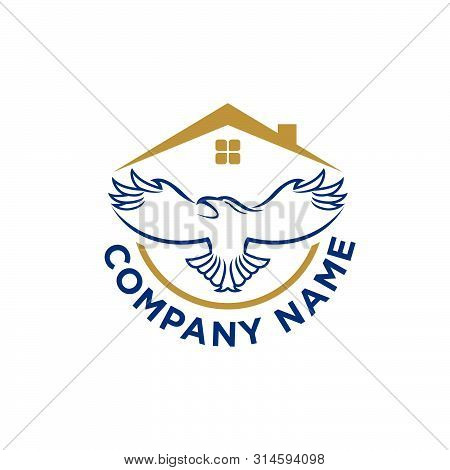 The Flying Eagle. Vector Emblem. Eagle Icon, Eagle Design Vector, Eagle Icon Picture, Eagle Icon Vec