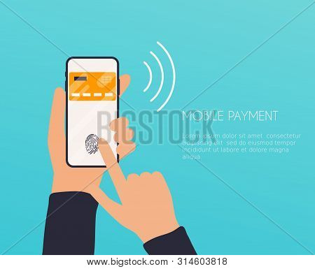 Flat Design Vector Illustration Concepts Of Online Payment Methods. Internet Banking, Online Purchas