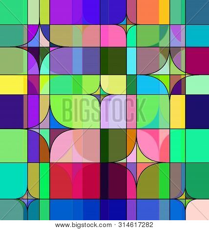 Colored Background Image Of The Abstract Square