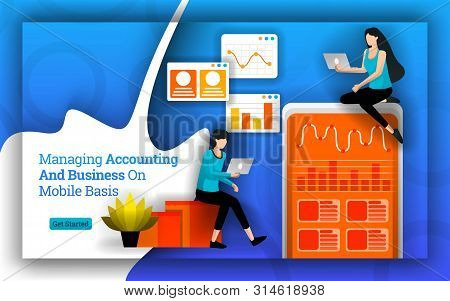 Accounting Statistics Simplified To Managing Accounting And Business On Mobile Basis. Bookkeeping So