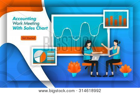 Accounting Companies Provide Accounting Work Meeting Services With Sales Chart For The Accuracy Of D