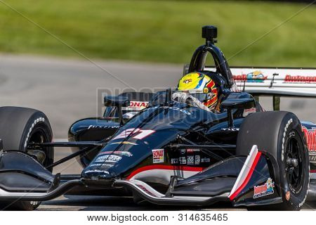 July 26, 2019 - Lexington, Ohio, USA: SPENCER PIGOT (21) of the United States  practices for the Honda Indy 200 at Mid Ohio at Mid-Ohio Sports Car Course in Lexington, Ohio.