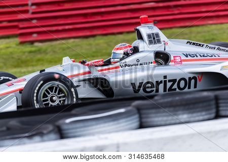 July 26, 2019 - Lexington, Ohio, USA: WILL POWER (12) of Australia  practices for the Honda Indy 200 at Mid Ohio at Mid-Ohio Sports Car Course in Lexington, Ohio.