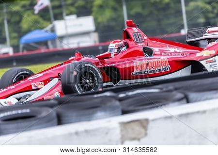 July 26, 2019 - Lexington, Ohio, USA: ED CARPENTER (20) of The United States  practices for the Honda Indy 200 at Mid Ohio at Mid-Ohio Sports Car Course in Lexington, Ohio.