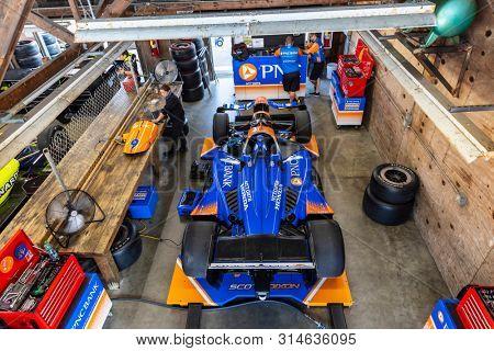 July 26, 2019 - Lexington, Ohio, USA: SCOTT DIXON (9) of New Zealand  prepares to practice for the Honda Indy 200 at Mid Ohio at Mid-Ohio Sports Car Course in Lexington, Ohio.